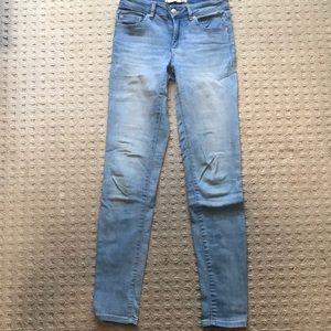 Light blue garage skinny jeans